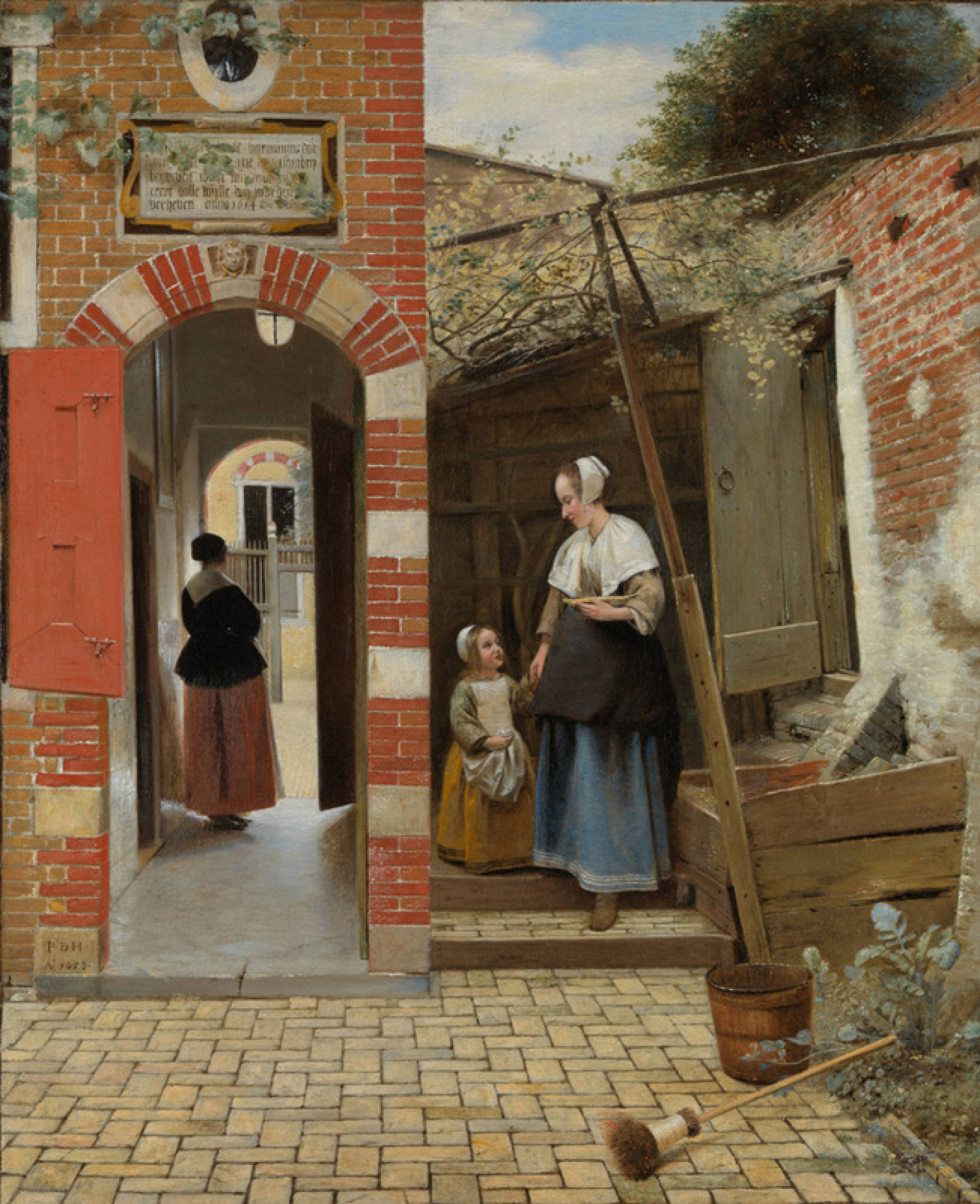 Pieter de Hooch, The Courtyard of a House in Delft, 1658 ©The National Gallery, Londres