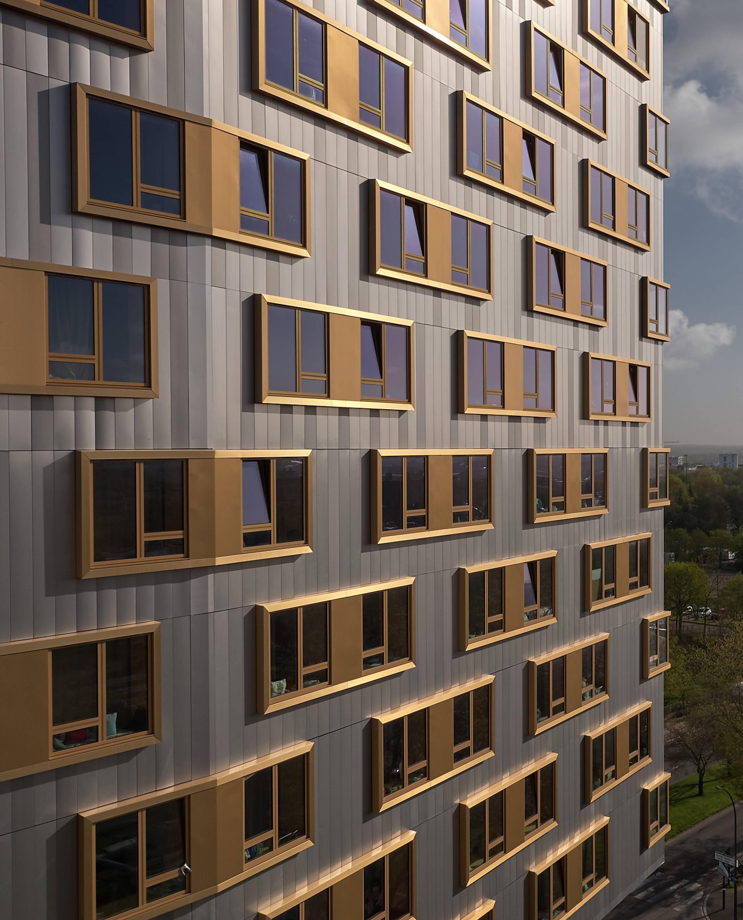 Students accommodation tower, Normandie Saumurois district, Rennes, 2017 ©S.Chalmeau