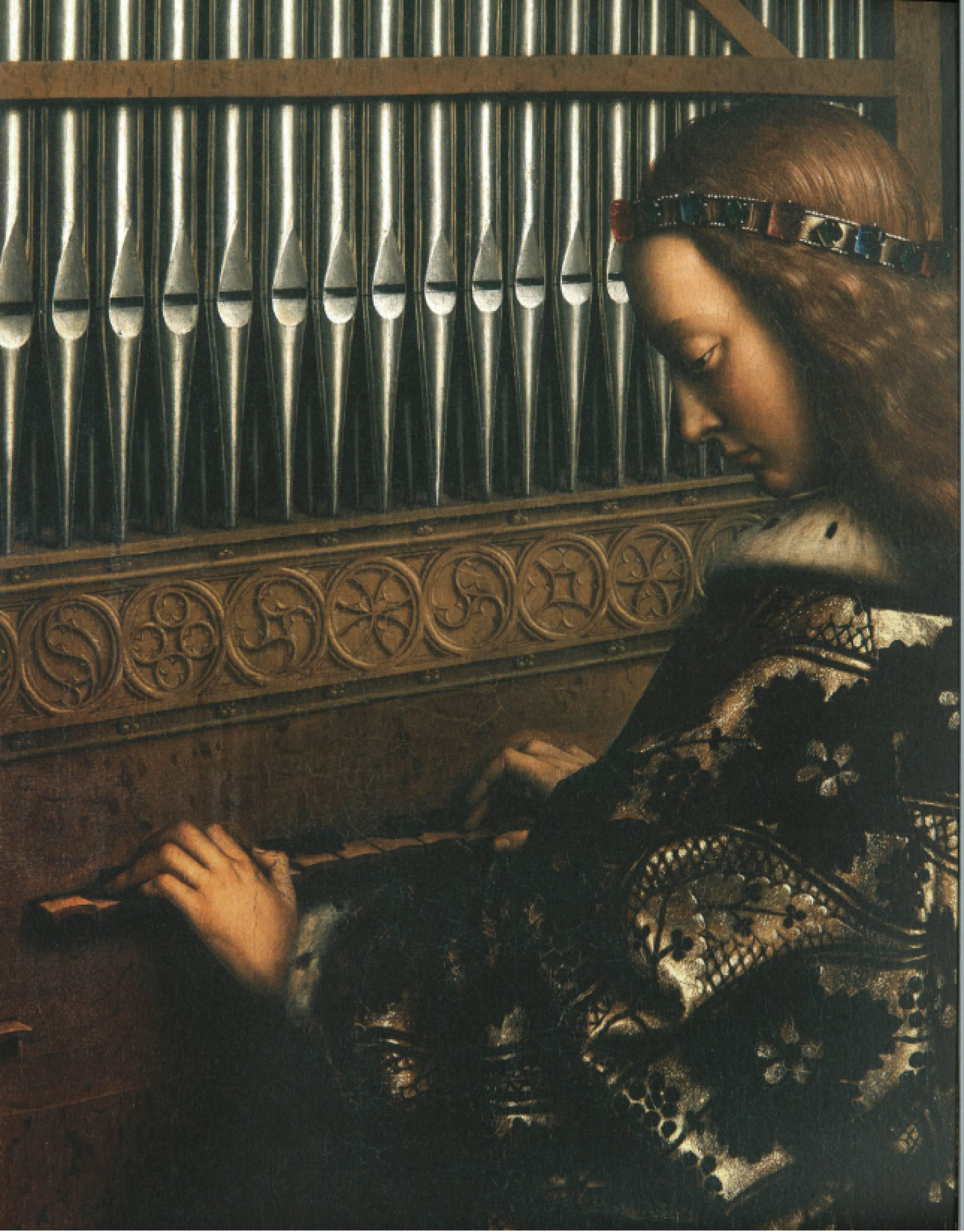 Van-Eyck, détail de L'agneau mystique, 1432