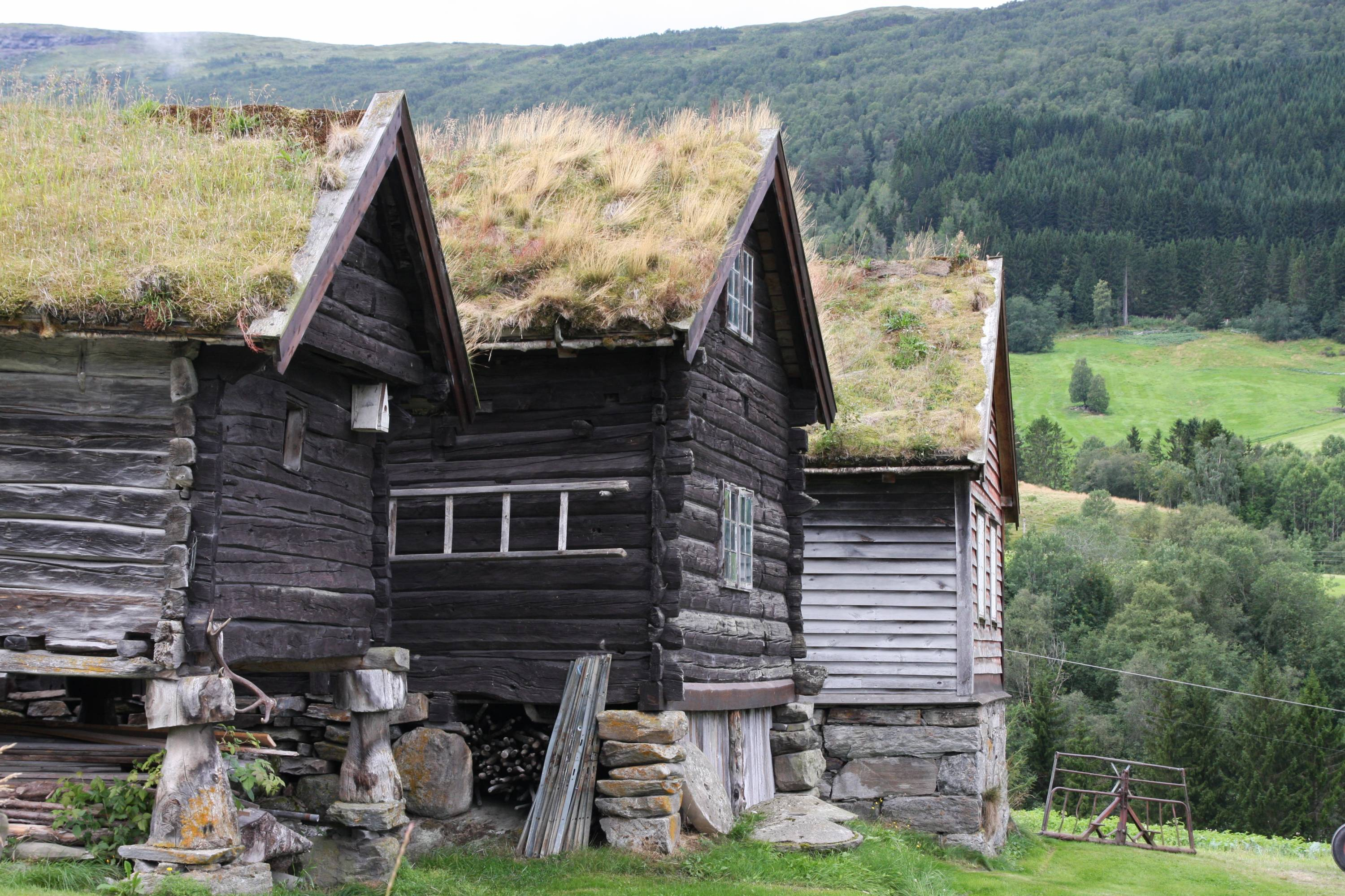 Traditional vegetalized roof, Norway