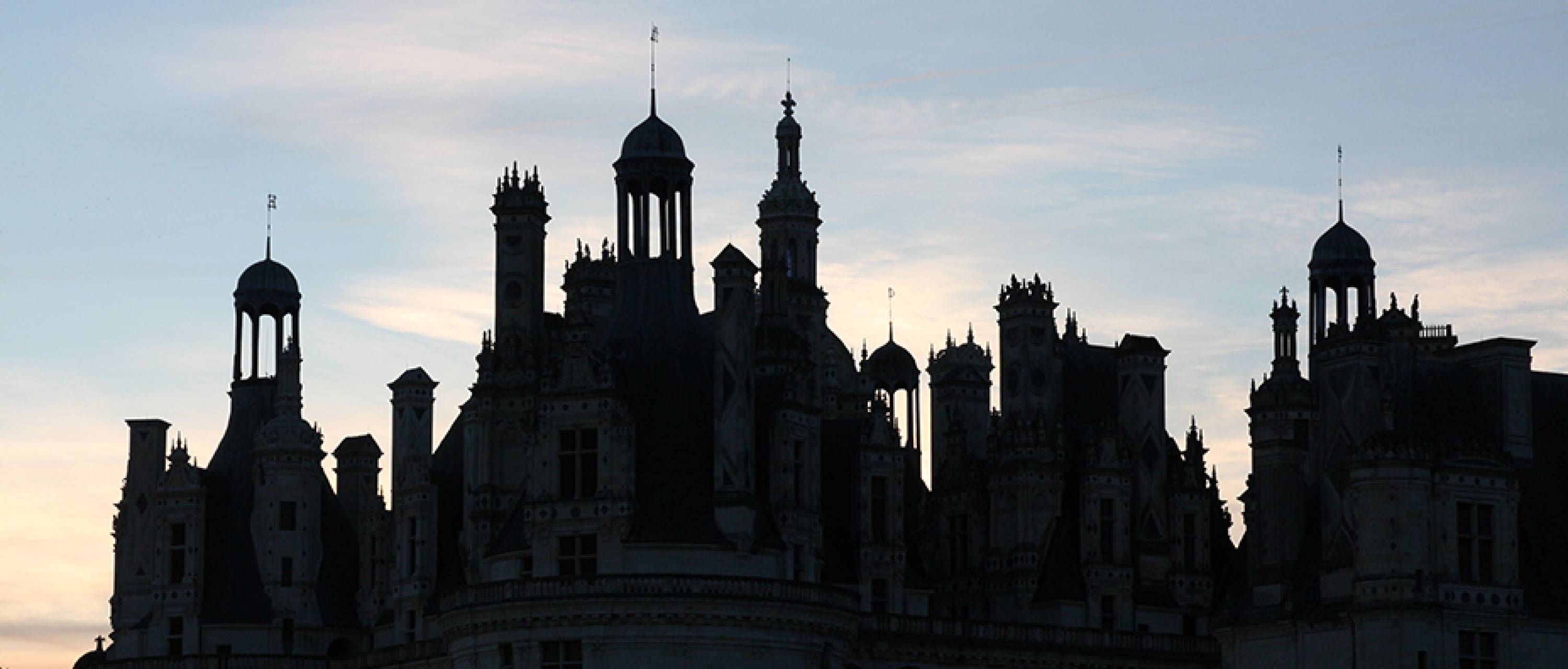 Castel of Chambord, roofing silhouette, France