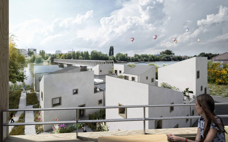 Perspective du concours Bords de Loire, ©urbanmakers, 2014
